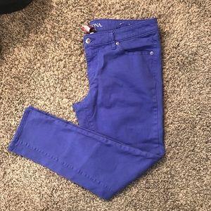 Sz 12 merona purple skinny ankle jeans Worn once.